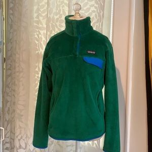 Patagonia green and blue sweater